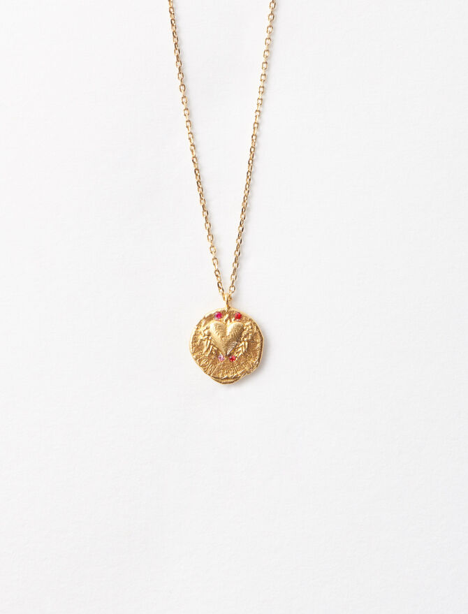 """Mon coeur"" gold-plated necklace -  - MAJE"
