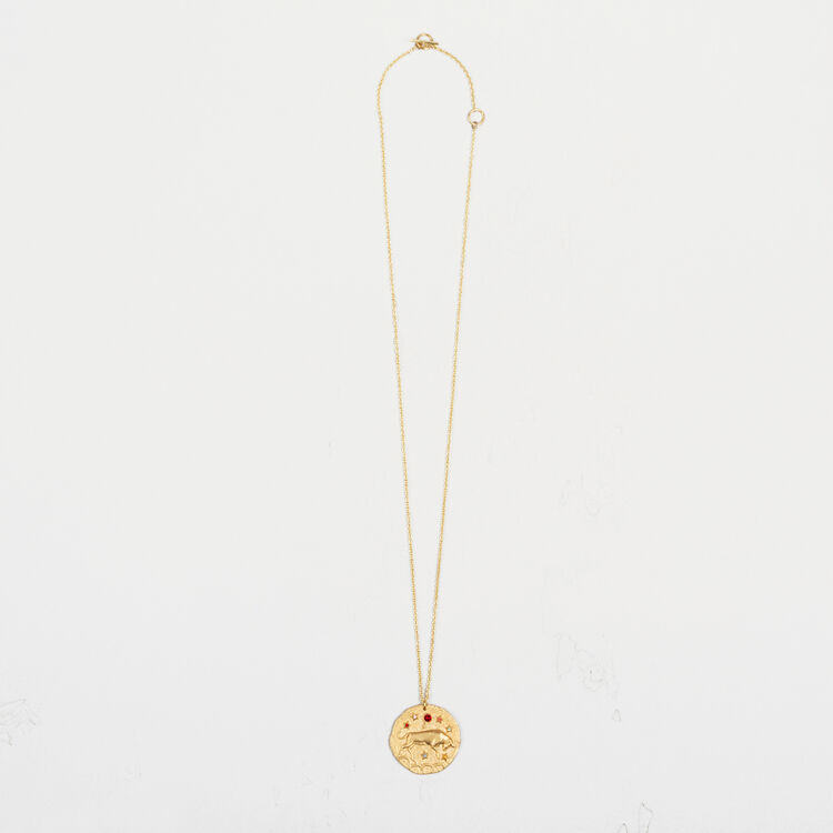 Taurus zodiac sign necklace : Party Wear color GOLD