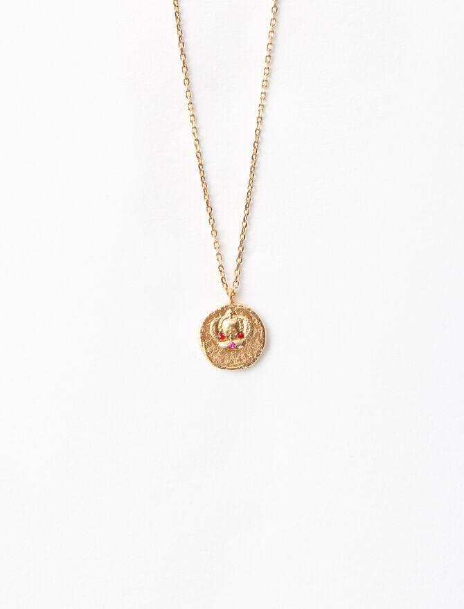 """Ma Reine"" gold-plated necklace -  - MAJE"
