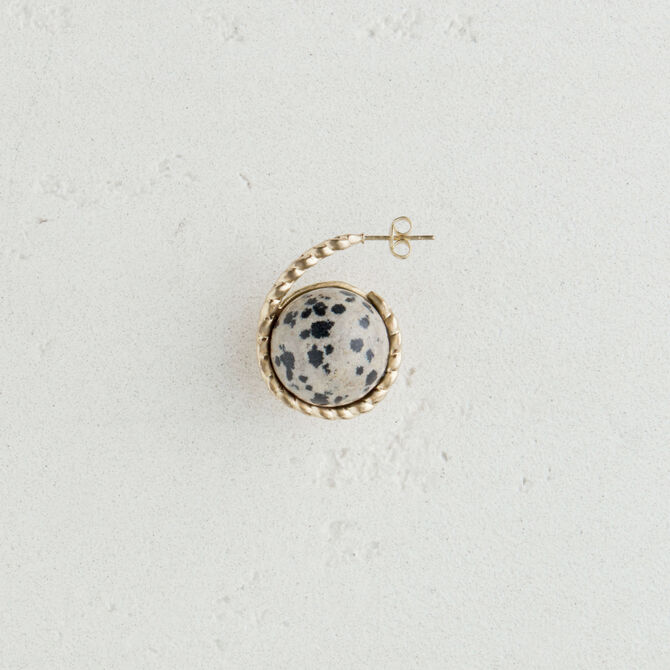 Left earring with natural stone - See all - MAJE