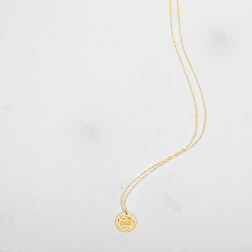 Aries zodiac sign necklace : Collection color GOLD