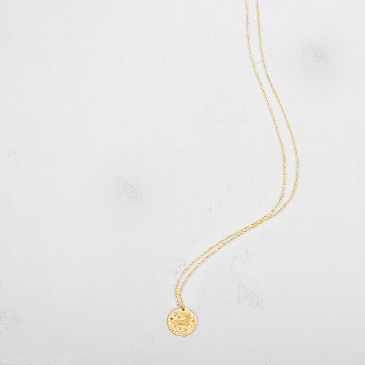 Aries zodiac sign necklace : Party Wear color GOLD