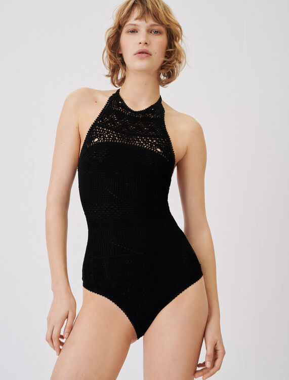 Crochet-style swimsuit - Tops & Shirts - MAJE