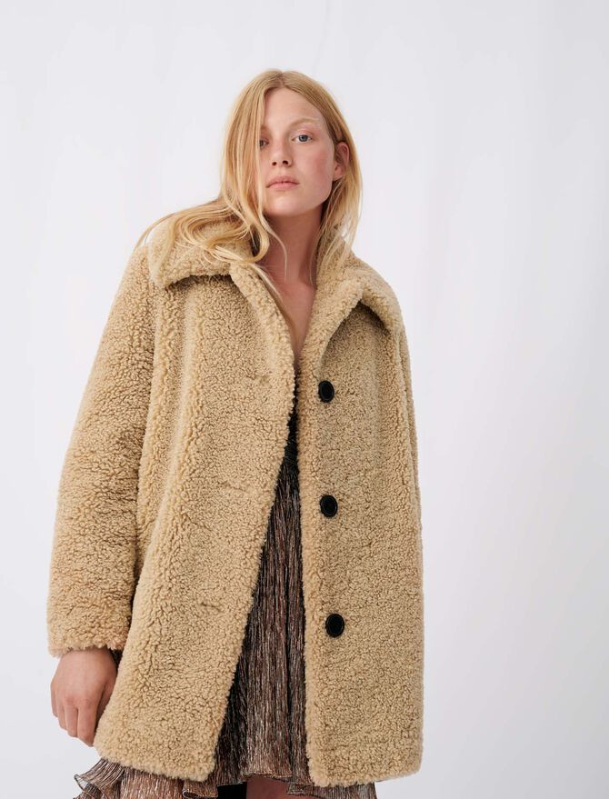 Fur-effect coat - See all - MAJE