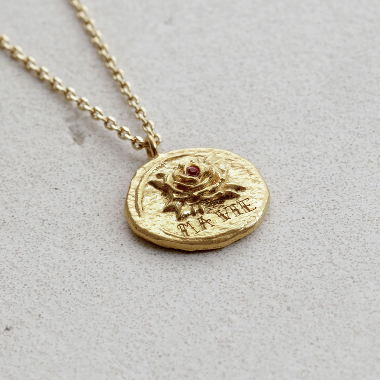 """Necklace """"Ma vie"""" in gold plated : Jewelry color GOLD"""