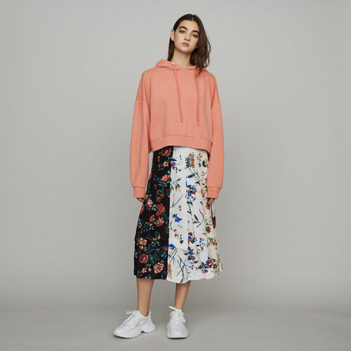 Cropped hooded sweatshirt : See all color Coral