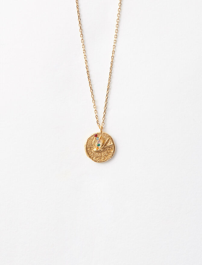 """Mon oiseau"" gold-plated necklace - Jewelry - MAJE"