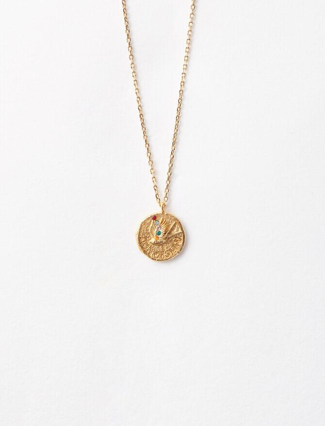 """Mon oiseau"" gold-plated necklace -  - MAJE"
