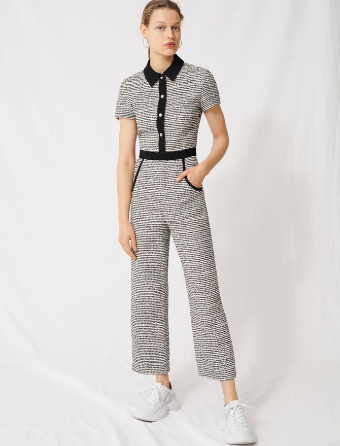 Tweed-style jumpsuit - Jumpshort & Jumpsuits - MAJE