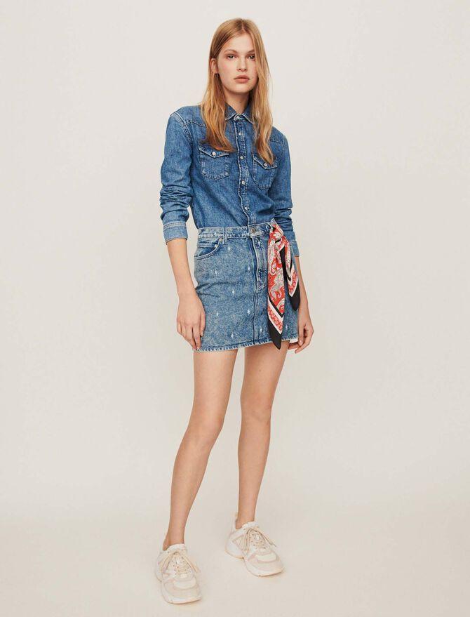 Faded jean shirt - Dresses - MAJE