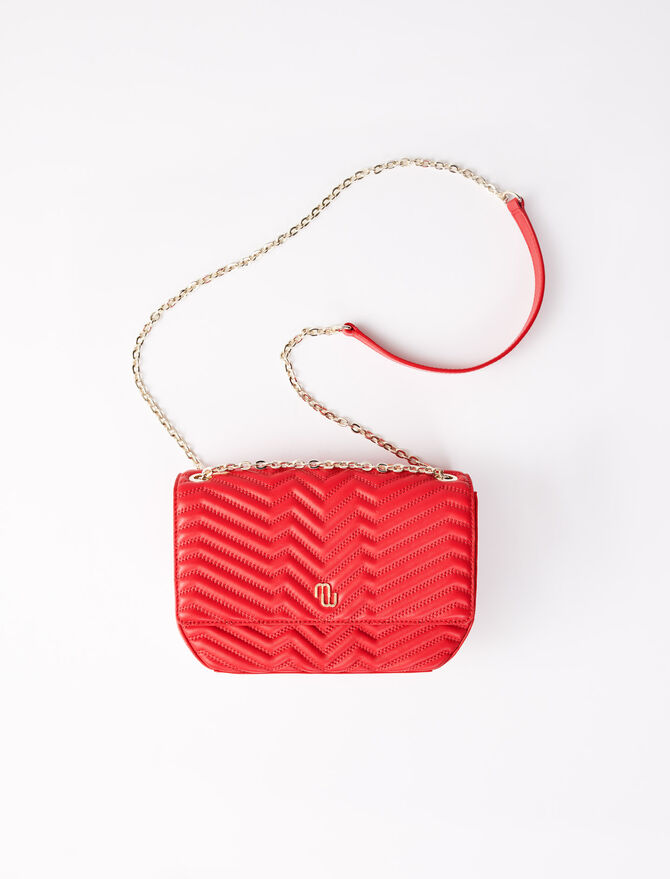 Quilted leather flap bag - All the collection - MAJE