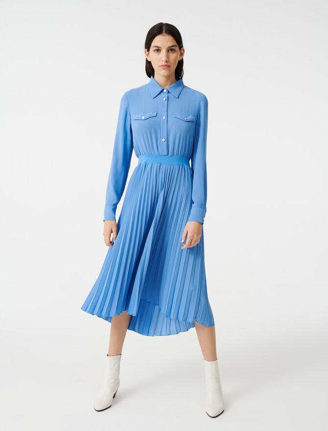 Gathered waist shirt dress -  - MAJE