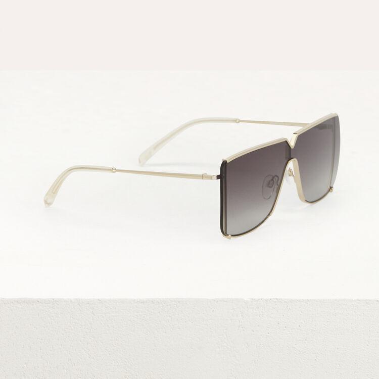 """Mask"" sunglasses in metal : Eyewear color Multico"