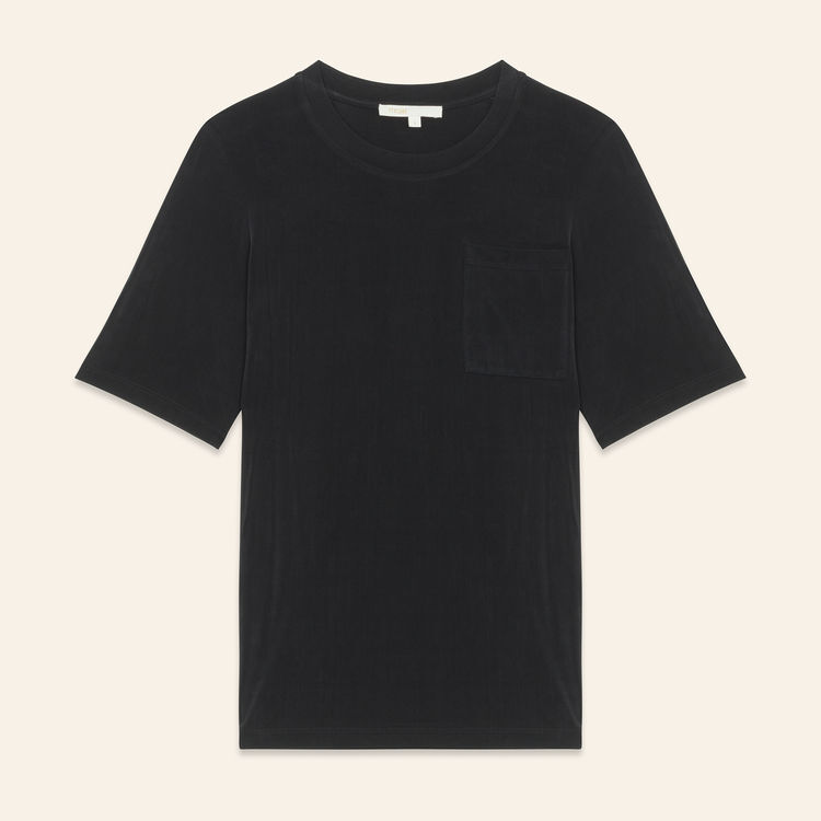 Cupro T-shirt : SoldesUK-All color Black 210