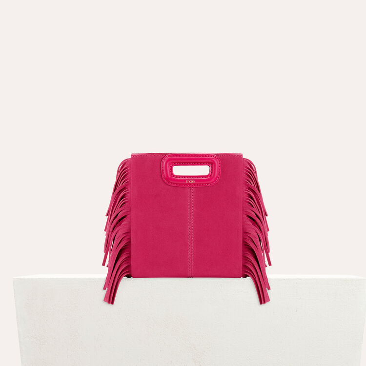 Fringed suede M minibag : staff private sale color Pink