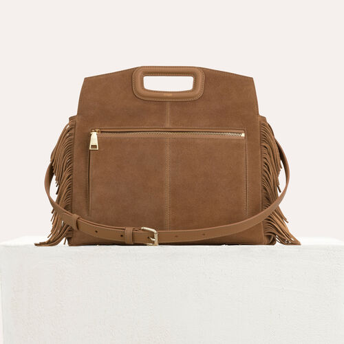 MWALK bag with leather fringe : Totes & M Walk color Camel