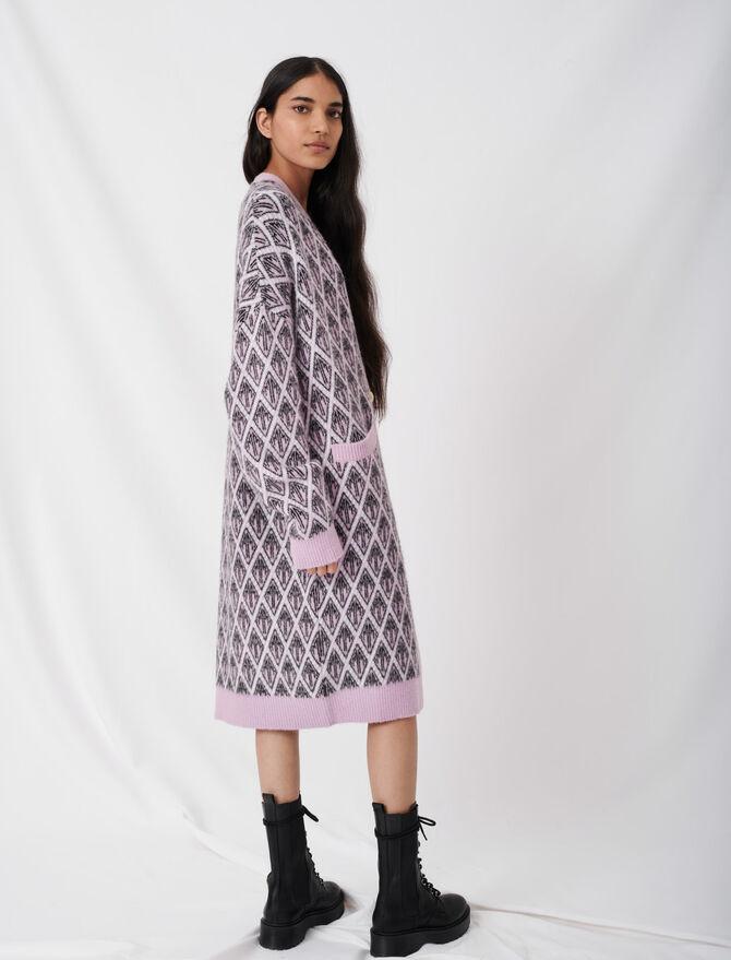 Maje monogram jacquard cardigan - Pullovers & Cardigans - MAJE