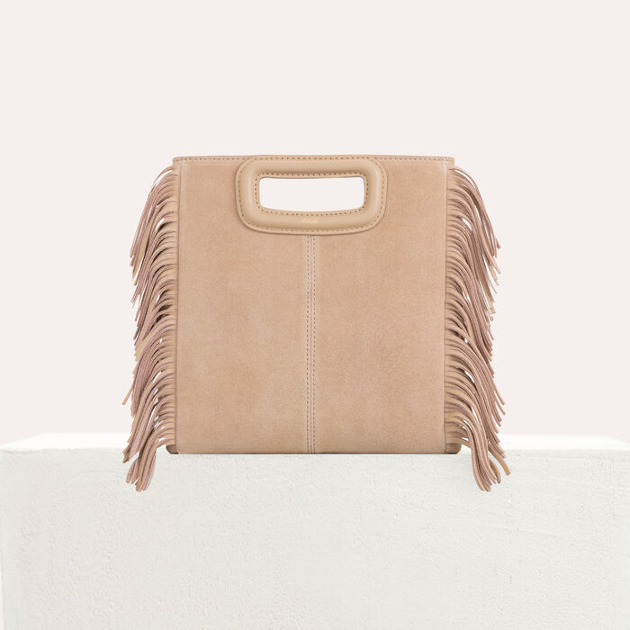 M bag with suede fringes : M bag color Beige