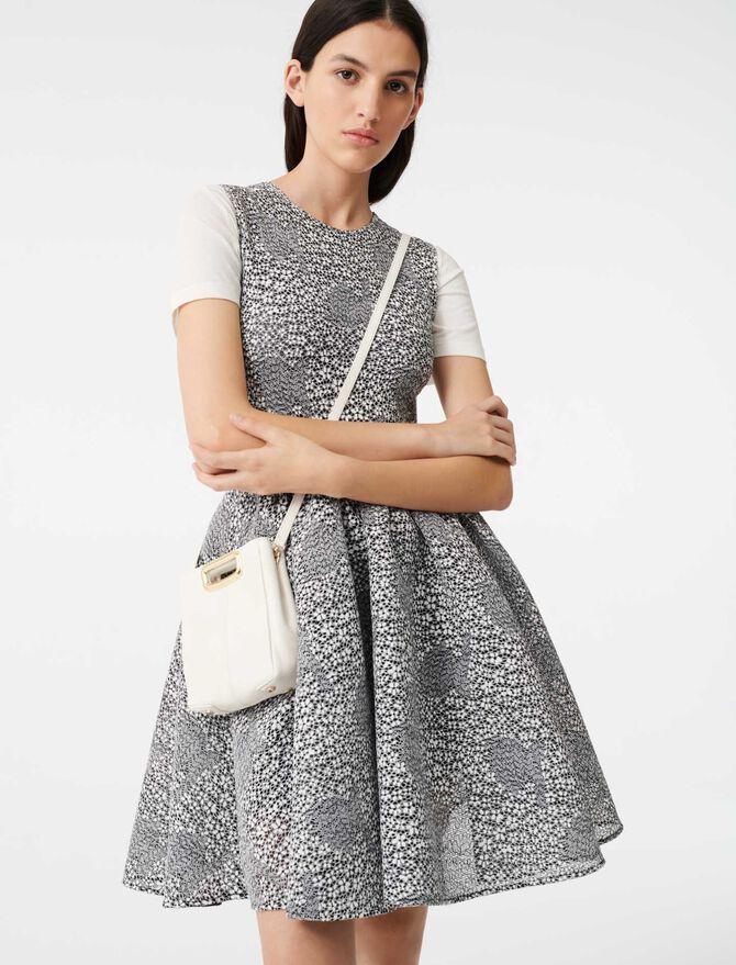 Embroidered floral knit skater dress - Dresses - MAJE