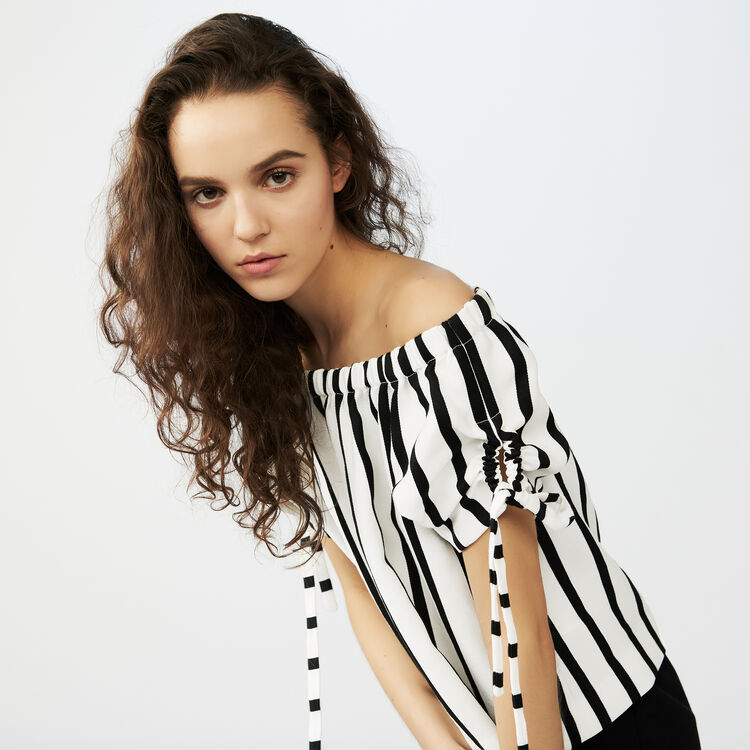 Striped crop top : staff private sale color Stripe