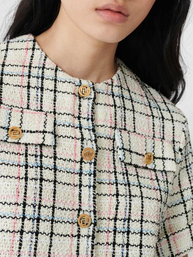 Elegant tweed-style top with fringing - Tops & Shirts - MAJE