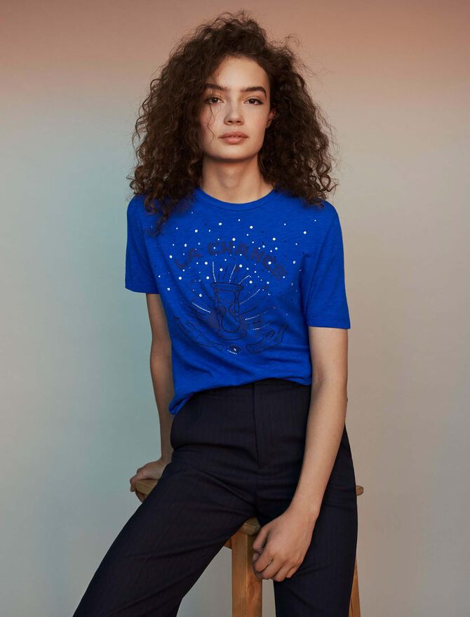 Embroidered tee shirt - See all - MAJE
