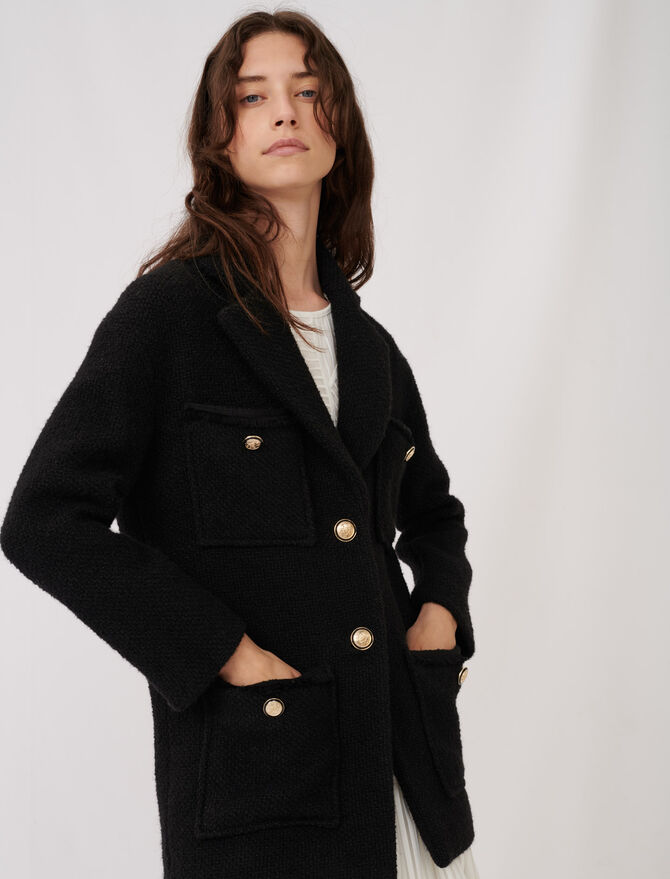 Tweed-style coat - Coats & Jackets - MAJE