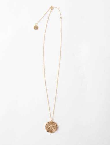 Aquarian zodiac sign necklace : Jewelry color Old Brass