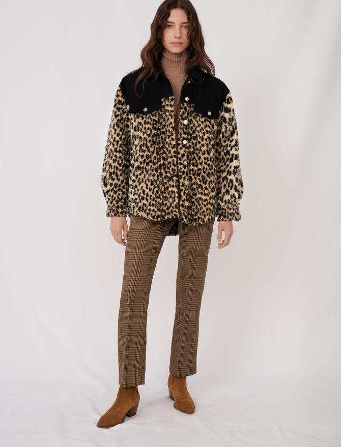 Bimaterial animal motif jacket -  - MAJE