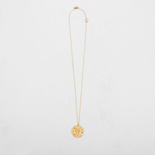 Gemini zodiac sign necklace : Collection color GOLD
