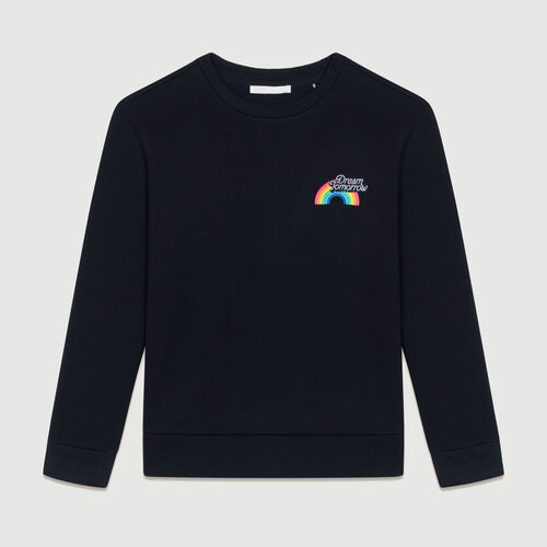Graphic fleece sweatshirt : Sweatshirts color Black 210