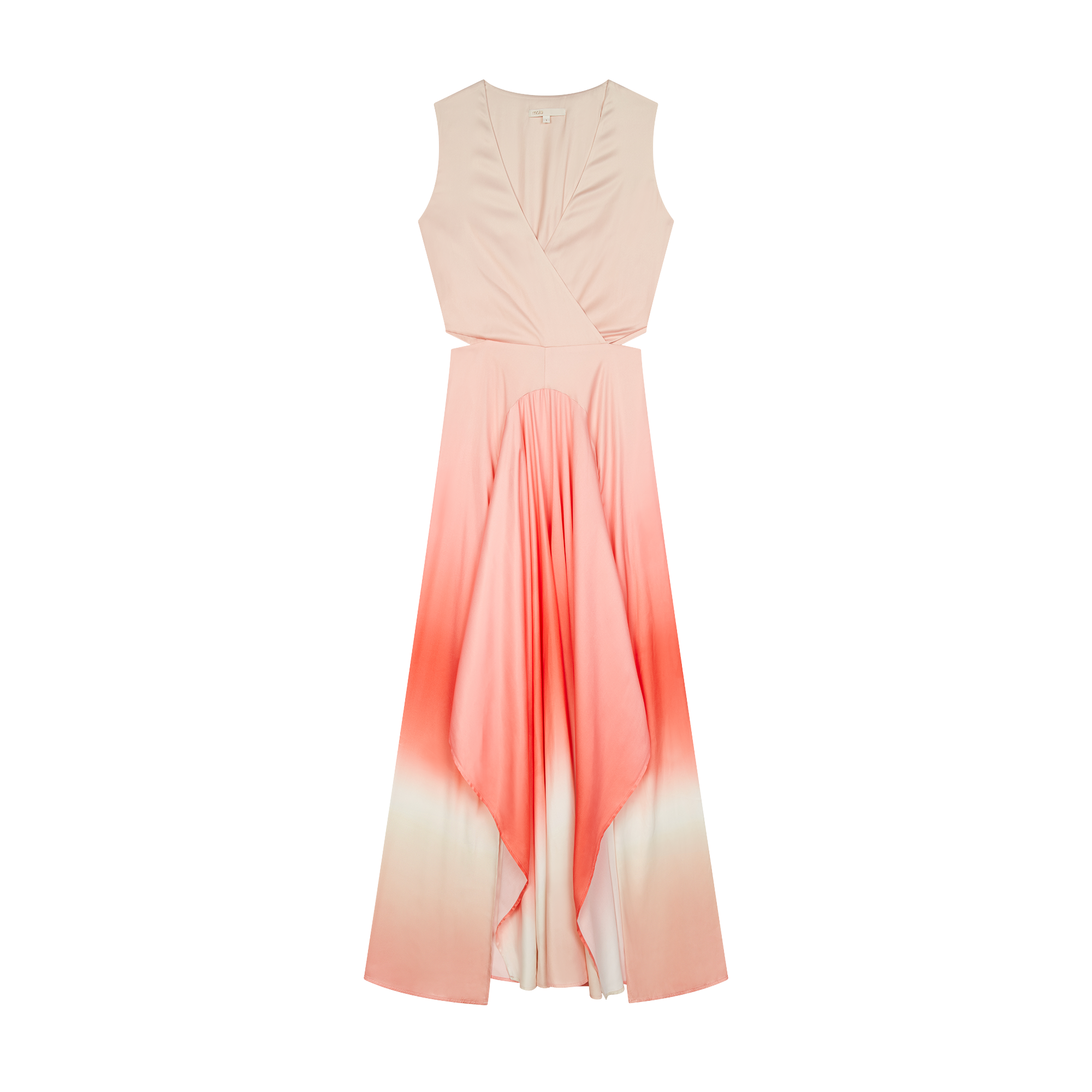 Long tie dye dress in satin - Dresses - MAJE