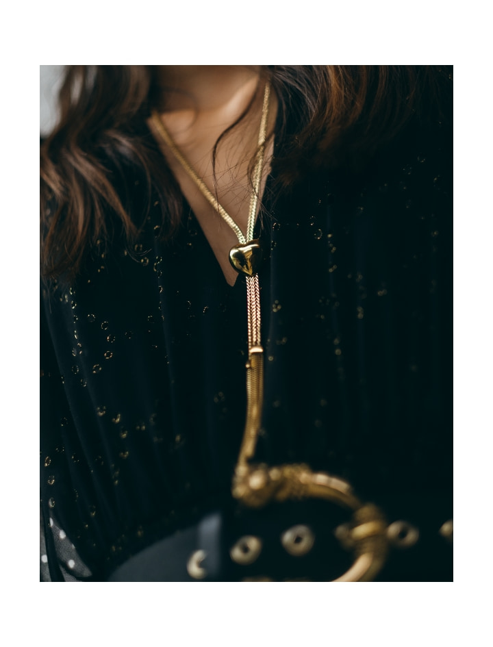 Long gold pendant necklace - Gifts Guide - MAJE